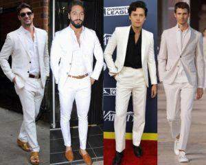 สูทผุ้ชายสีขาว แบบเป็นทางการ และกึ่งทางการ ใส่ได้ในหลายๆ งาน