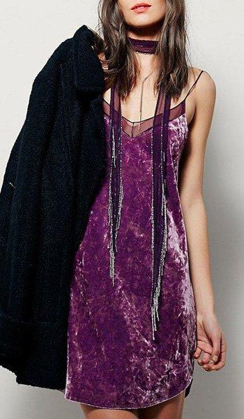 ผ้ากำมะหยี่สไตล์ชุดเดรสออกงานแบบชุดเหมาะสำหรับสาวรุ่นใหม่