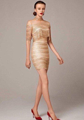 แบบชุด Mini dress กลิตเตอร์สุดปังระดับ hi end