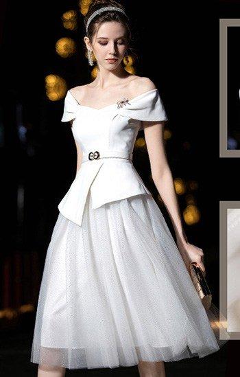 ชุดเสื่อกระโปรง สีขาว