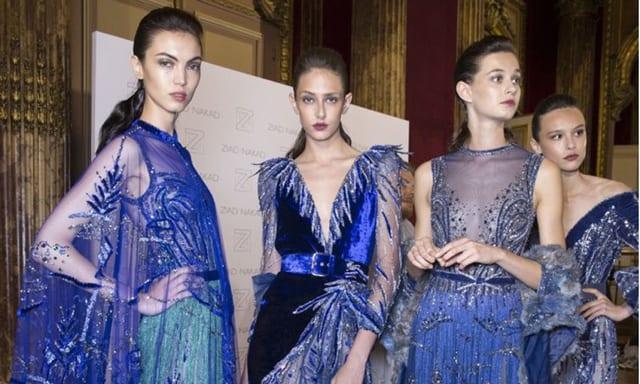 สวยเก๋ด้วยราตรีสีน้ำเงิน-กรม โชว์อกผ้าซีทรูเพิ่มระดับความแซ่บแบบเรียบหรูดูแพง