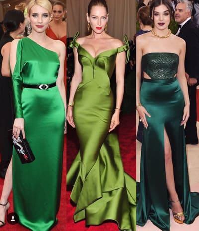 แฟชั่น ชุดราตรีสีเขียว