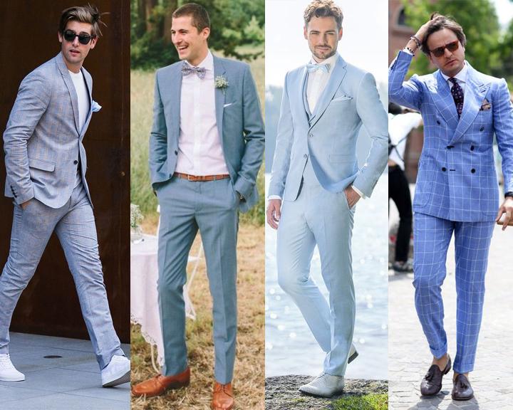 สูทสีฟ้าไปงานแต่ง งานกาล่า แบบไม่ซ้ำใคร ทรงทันสมัย