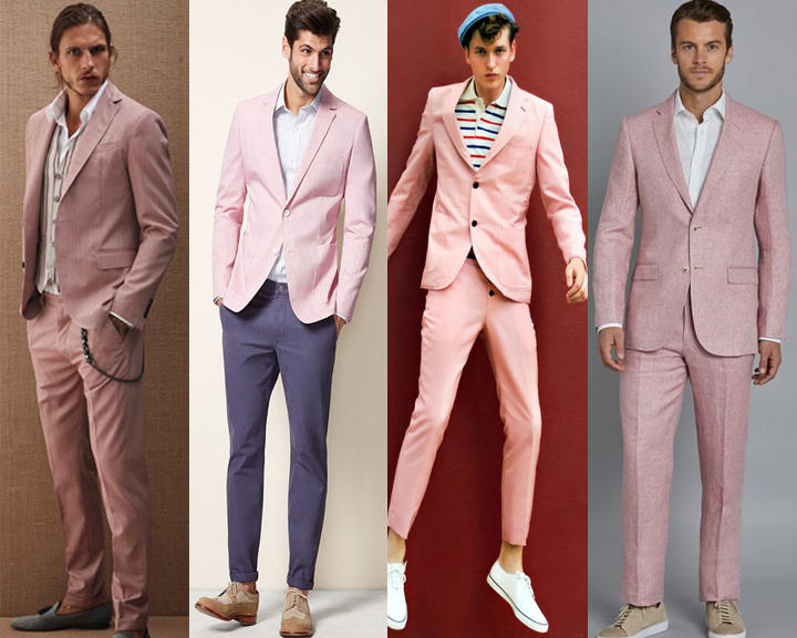 แบบชิวๆกับสูทสีชมพู ใส่คู่กับเสื้อเชิต