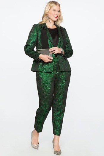 สูทผู้หญิงพลัสไซส์ สีเขียว
