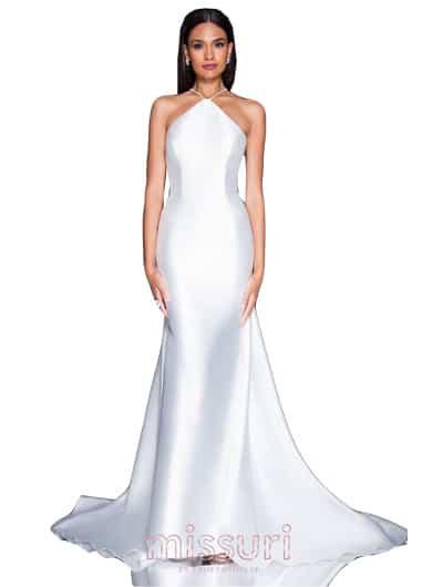 ชุดราตรีสีขาว