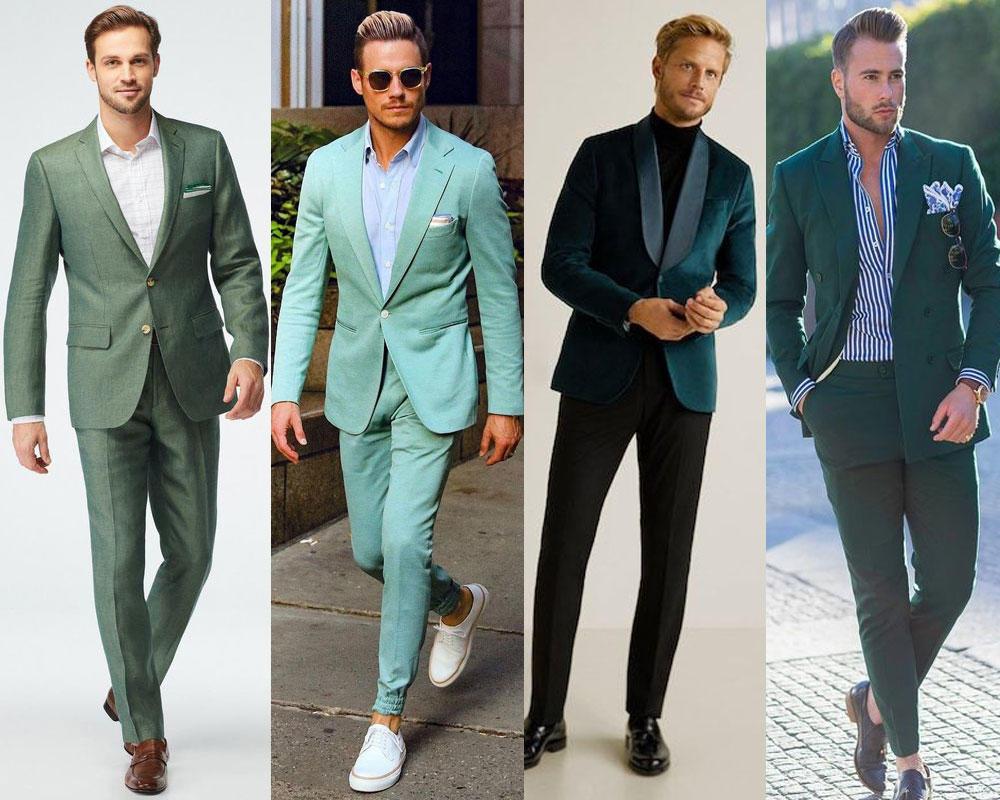 สูทสีเขียวแบบกึ่งทางการ สบายๆ แต่เรียบหรูดูดี