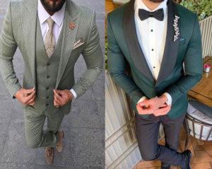 ลุคเจ้าบ่าว สุดเนี๊ยบ กับชุดสูทสีเขียว ใส่คู่กับเสื้อเชี๊ตสีขาว