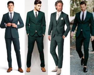ทรง Slim Fit สีเขียว เรียบหรู ดูแพง