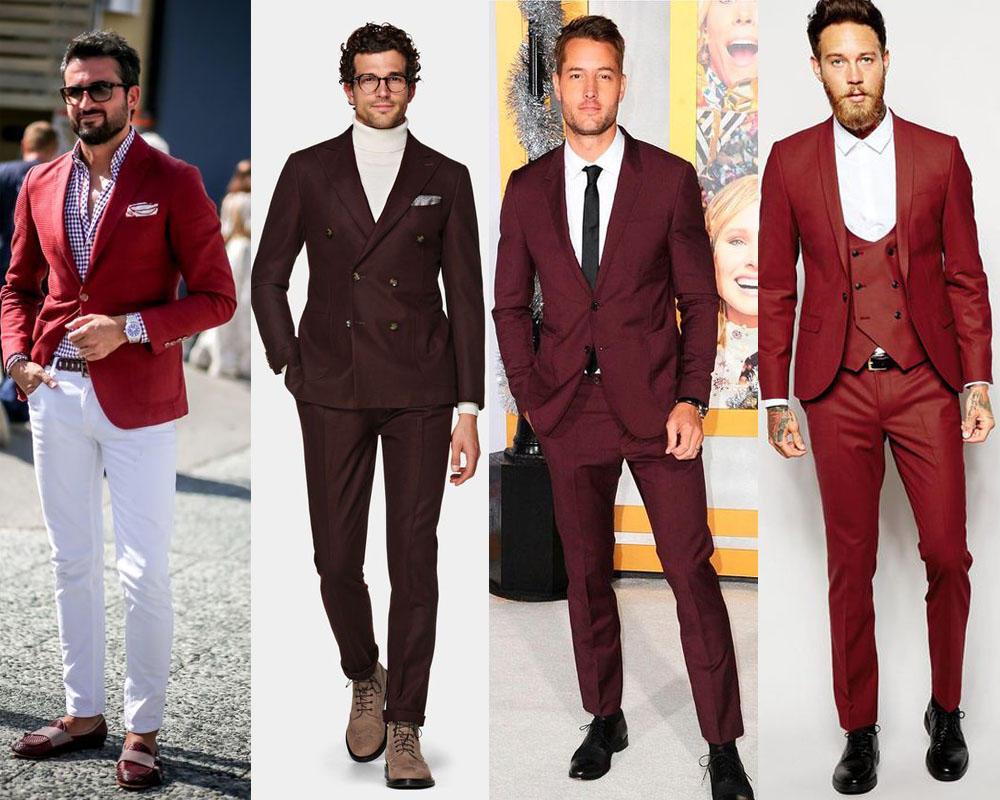 เรียบหรูในชุดสูทสีเเดง ทรงSlim Fit ให้ลุคไสต์คุณชาย
