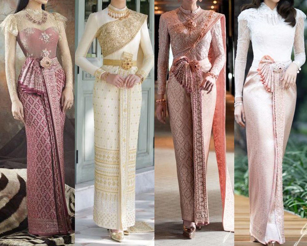 ชุดไทยประยุกต์ออกงาน เน้นออกงานทางการ งานแต่ง